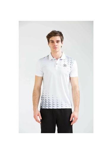 Umbro Sens Polo Tf-0045 Gri Erkek Tişört Beyaz